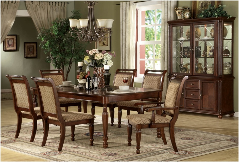 Blackmore Gl3445 9 Pc Dining Set Table With 1 Leaf